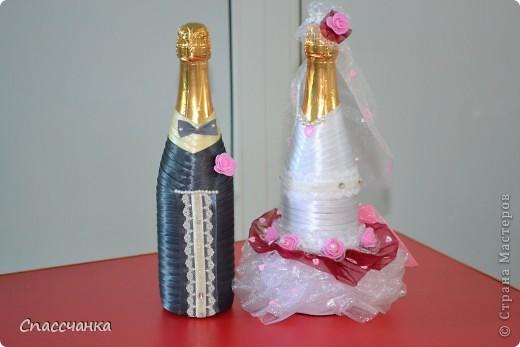 Ну вот и я заразилась свадьбами!! Спасибо мастерицам за такие подробные МК!!! Брала от каждого по чуть чуть!! Пока только повторюшки, набольшее пока неспособна!!! фото 5