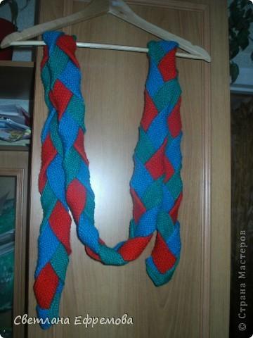Цветные шарфики фото 4