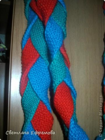 Цветные шарфики фото 5