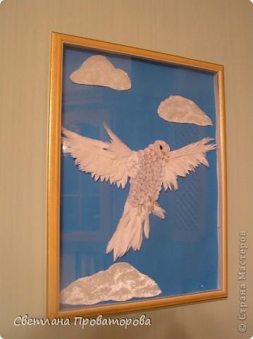Дорогие Мастерицы. Это мой летящий голубок.    фото 1