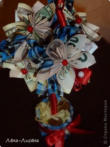 Попросили сделать деревце денежное небольшое, увидела у Maksik https://stranamasterov.ru/node/421416?c=favorite спасибо большое, вот такое у меня получилось фото 2