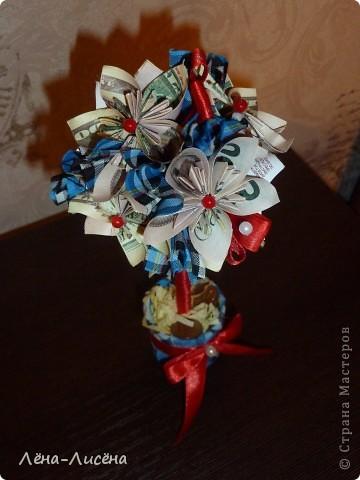 Попросили сделать деревце денежное небольшое, увидела у Maksik https://stranamasterov.ru/node/421416?c=favorite спасибо большое, вот такое у меня получилось фото 3