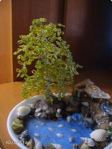 Водопад своими руками с деревом из бисера фото 705