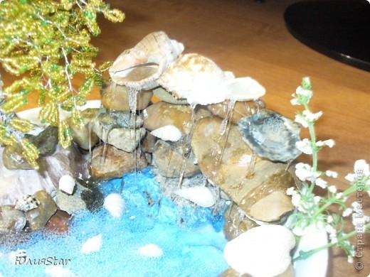 Долго металась, что первее сделать водопад или березу. Очень хотелось попробовать сделать водопад и березку давно хотелось сделать. Вот и родилась идея совместить. фото 5