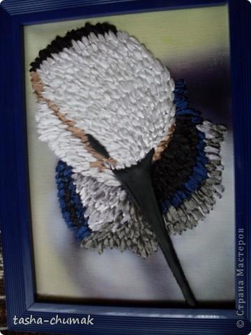 Птички найдены в интернете...  Вышивка лентами по принту. Глазки и клювики- пластика. фото 1