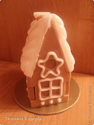 Скоро Новый год, не успеем оглянуться.... Вот и решила сварить вот такой мыльный пряничный домик ;-) фото 2
