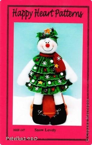 Такая вот очаровательная Снеговушка-Ёлочка дошилась у меня сегодня)) фото 10