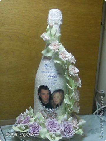 Свадебная бутылка в подарок фото 1