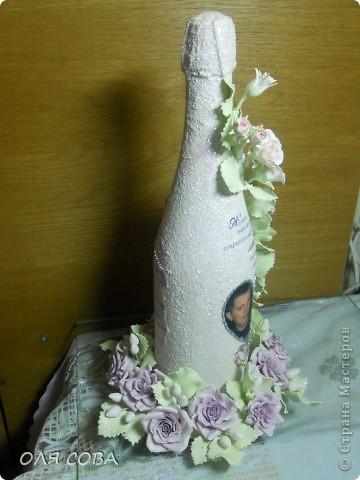 Свадебная бутылка в подарок фото 5