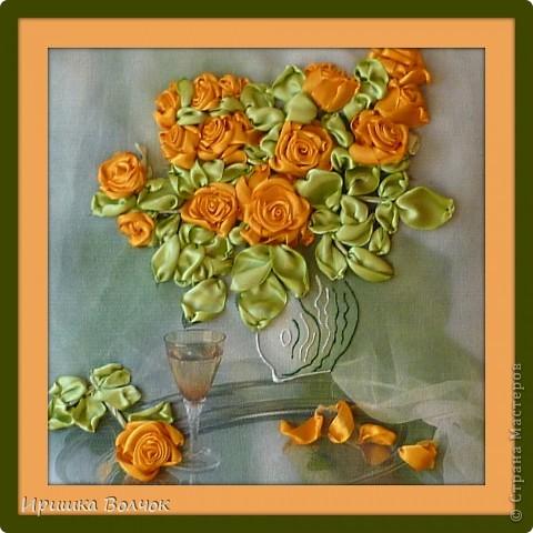 """Доброго времени суток,дорогие мастерицы! Сегодня хочу с Вами поделится еще одной работой: Вышивкой лентами-""""Розы"""". фото 1"""