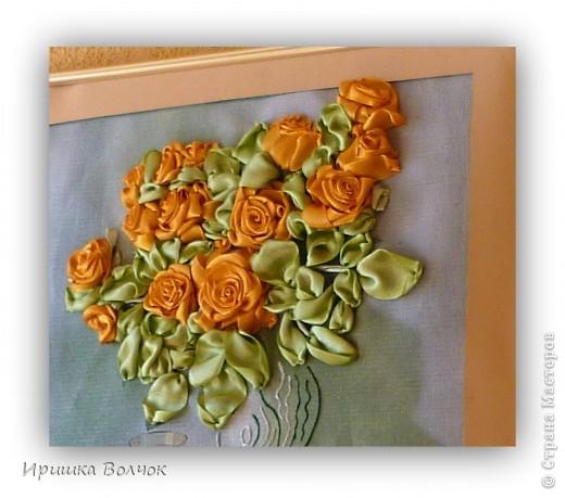 """Доброго времени суток,дорогие мастерицы! Сегодня хочу с Вами поделится еще одной работой: Вышивкой лентами-""""Розы"""". фото 2"""