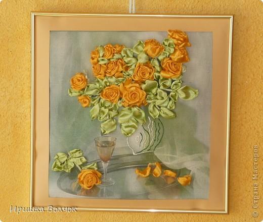 """Доброго времени суток,дорогие мастерицы! Сегодня хочу с Вами поделится еще одной работой: Вышивкой лентами-""""Розы"""". фото 4"""