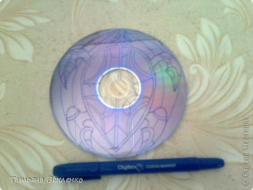 Хвалюсь своей работой - Огненной Черепахой. Витраж на DVD-диске.  Мастер-класс такого шедевра у Ихтиандры (https://stranamasterov.ru/node/343469). фото 3