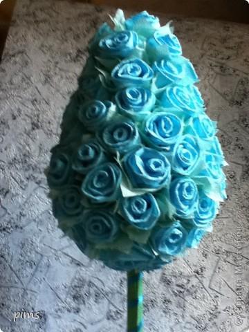 Дерево делала брату в подарок, качество снимка правда не очень, но хотелось показать, что использовались салфетки двух цветов темно синего и голубого  фото 6