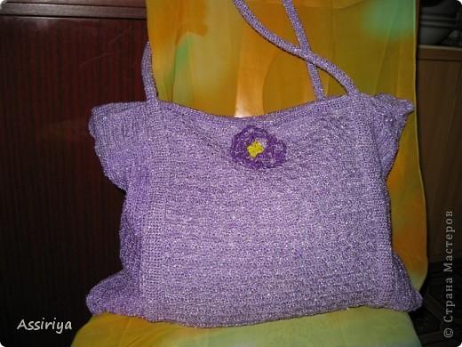 Вот такую сумку я себе связала этим летом фото 1