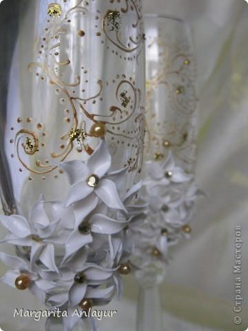 """Набор """"лилии с золотом"""" фото 2"""