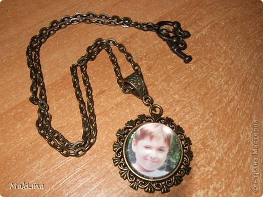 Попробовала сделать вот такой медальончик, со своим любимым мальчиком. фото 1