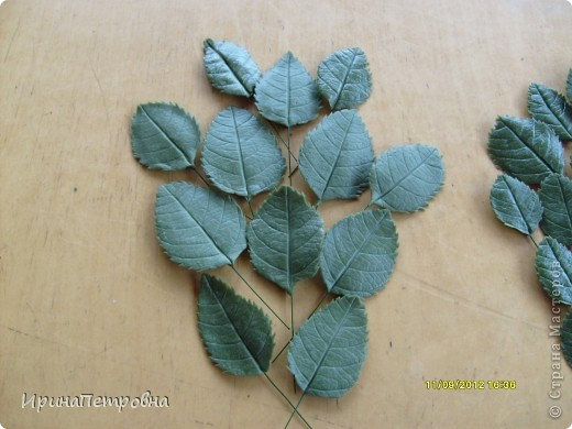 Листочки из самоварного Холодного Фарфора фото 1