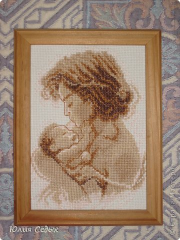 Эта картина была вышита во время беременности. фото 1