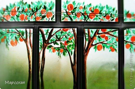 Апельсиновые деревья рисунок