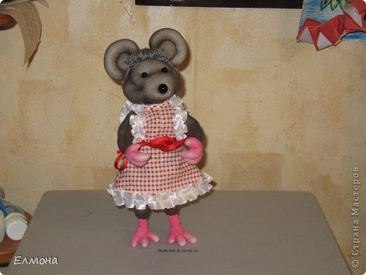 Каркасная мышка,лапки,хвостик подвижны. фото 2