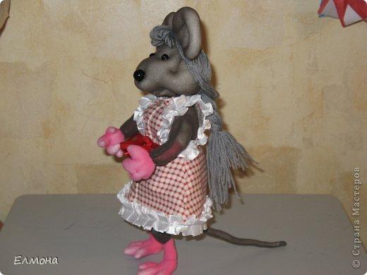 Каркасная мышка,лапки,хвостик подвижны. фото 3