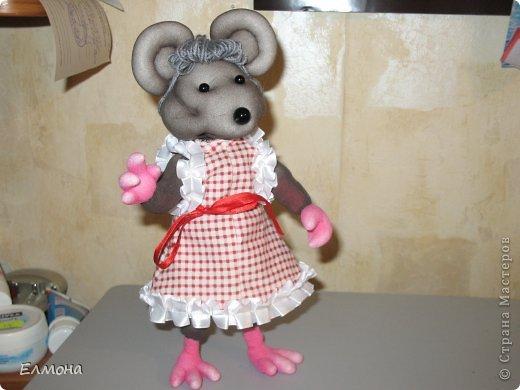 Каркасная мышка,лапки,хвостик подвижны. фото 1