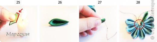 Всем доброго времени суток! =)  Просидев вчера вечером за ноутбуком сделала подробнейший мастер-класс по созданию заколки-цветка канзаши. Вариаций может быть великое множество от самых простых до сложных. Можно украсить ободок или лацкан пиджака в виде броши и тд. На цветок у меня ушло минут 20, но с это с учетом опыта. В общем-то если поднатореете, то будете щелкать их как орешки)  фото 10