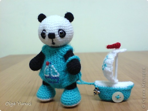 Вязание крючком маленькую панду