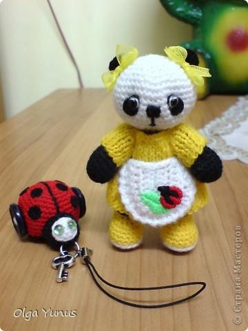 Моя последняя работа мишка Бусинка. Милая очаровашка с любимым воздушным шариком))) фото 2