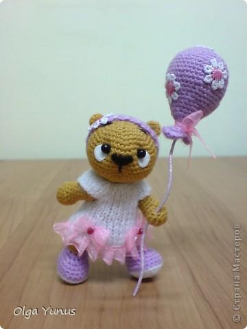 Моя последняя работа мишка Бусинка. Милая очаровашка с любимым воздушным шариком))) фото 1