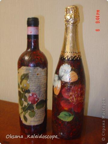Роспись бутылок  фото 2