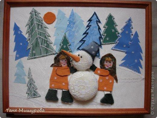 Картина- текстильное панно для детской.