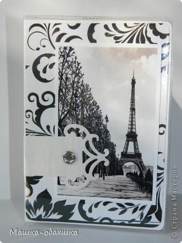 """Обложки на паспорт. Серия """"Черно-белый Париж"""" фото 2"""