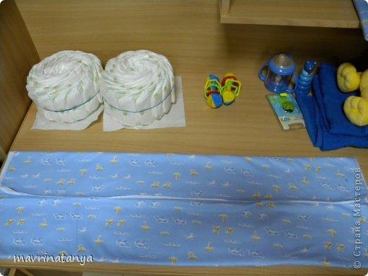 Предлагаю Вашему вниманию мастер-класс по изготовлению оригинального подарка из памперсов для мальчика. фото 8