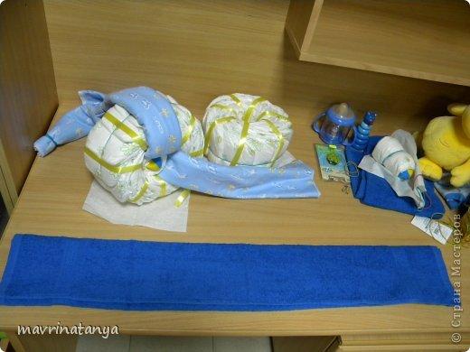 Предлагаю Вашему вниманию мастер-класс по изготовлению оригинального подарка из памперсов для мальчика. фото 15