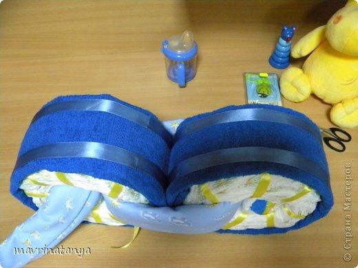 Предлагаю Вашему вниманию мастер-класс по изготовлению оригинального подарка из памперсов для мальчика. фото 21