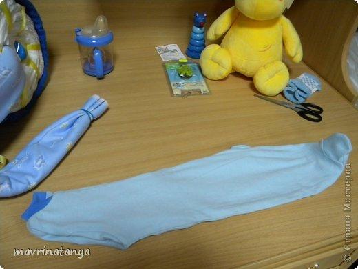 Предлагаю Вашему вниманию мастер-класс по изготовлению оригинального подарка из памперсов для мальчика. фото 23