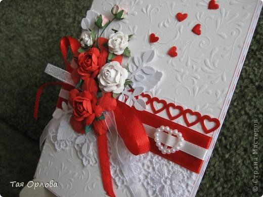 Приветик всем!Я сегодня к вам с открыткой к свадьбе.Красное и белое... фото 3
