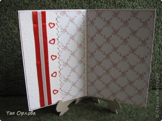 Приветик всем!Я сегодня к вам с открыткой к свадьбе.Красное и белое... фото 4