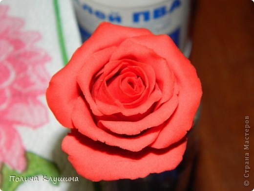Моя вторая роза их холодного фарфора фото 1