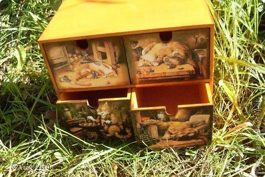 Комод из Икеи, распечатки, подрисовка акрилом. Для девочки Вероники 5 лет отроду. фото 3