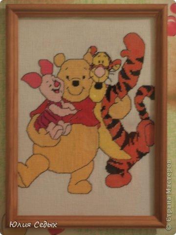 Эта картина была вышита во время беременности. фото 5