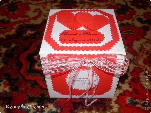 Коробочка свадебная для денежного подарка фото 3