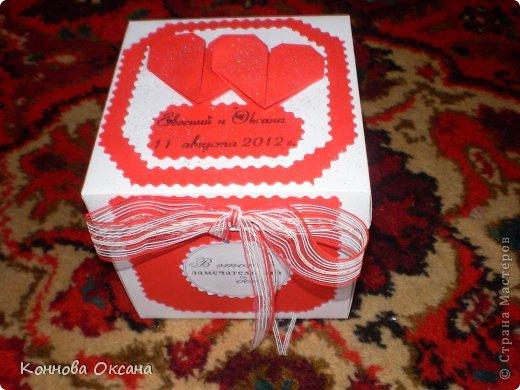 Коробочка свадебная для денежного подарка фото 5
