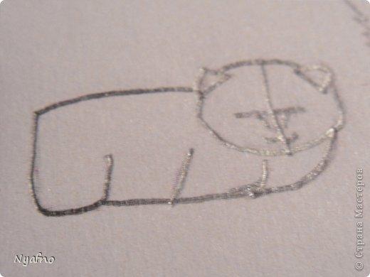 Рисуем персидского котёнка МК фото 4