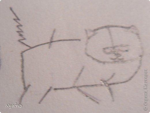 Рисуем персидского котёнка МК фото 5