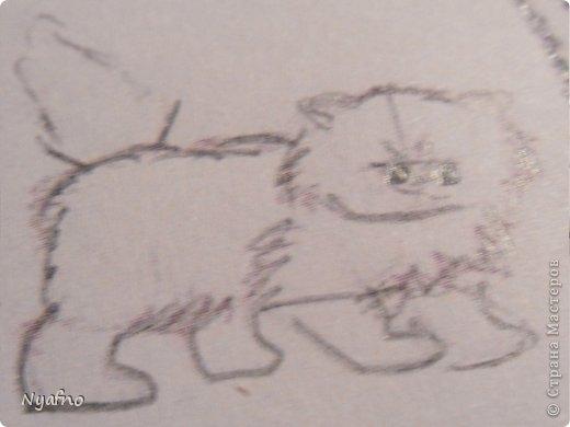 Рисуем персидского котёнка МК фото 6