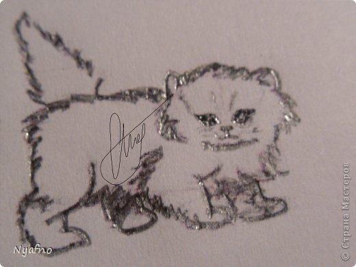 Рисуем персидского котёнка МК фото 7