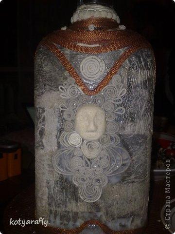 Вот еще одна моя бутылка, немного странная получилась.  фото 2